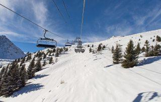 Het skigebied van Veysonnaz