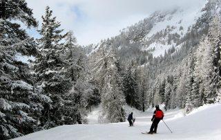 Het skigebied van Crans Montana