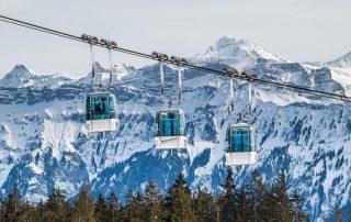 De skigebieden in het Berner Oberland